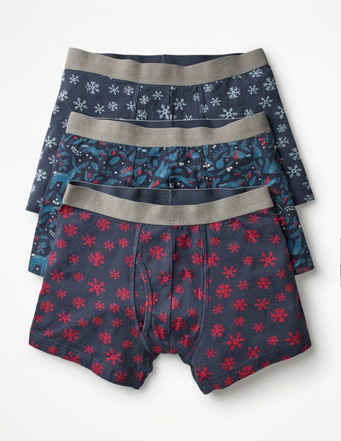 3 Pack Jersey Boxers - Festive Multi Pack