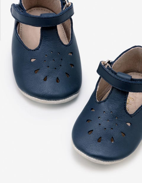 Supersoft Leather Shoes - Navy