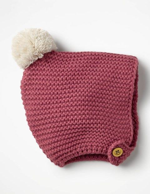Knitted Bonnet - Autumn Rose Pink
