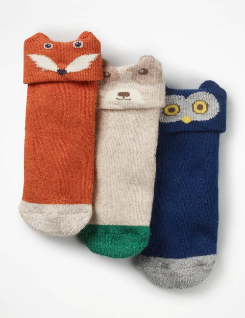 Image of 3 Pack Terry Socks Multi Baby Boden, Multicouloured