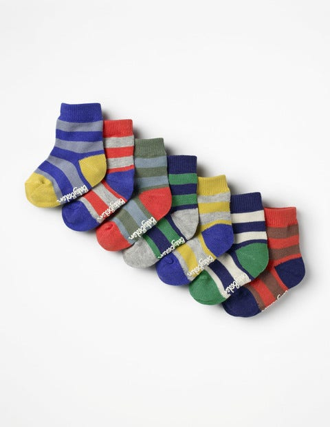 Image of 7 Pack Sock Box Multi Baby Boden, Multicouloured
