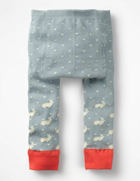 Knitted Leggings - Dover Sky Pin Spot
