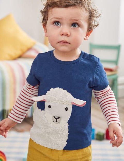 Layered Animal Friends T-Shirt - Beacon Blue Sheep
