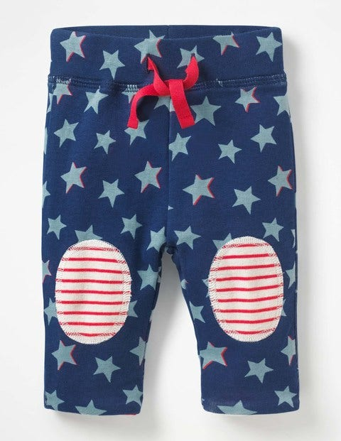 Reversible Knee Patch Trousers - Beacon Blue Shadow Star