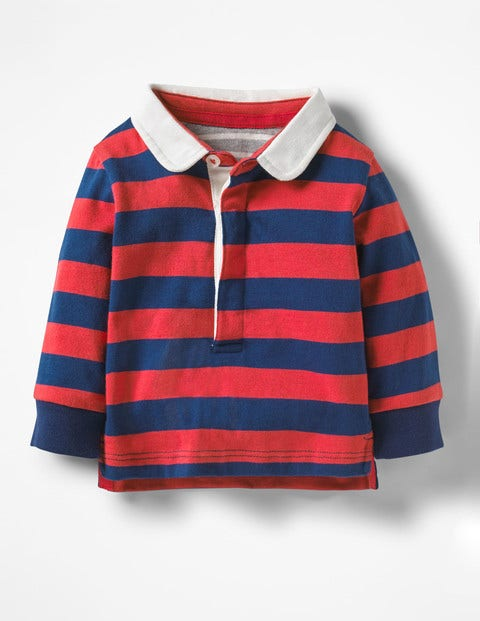 Hotchpotch Rugby Shirt - Cherry Tomato Red/Beacon Blue