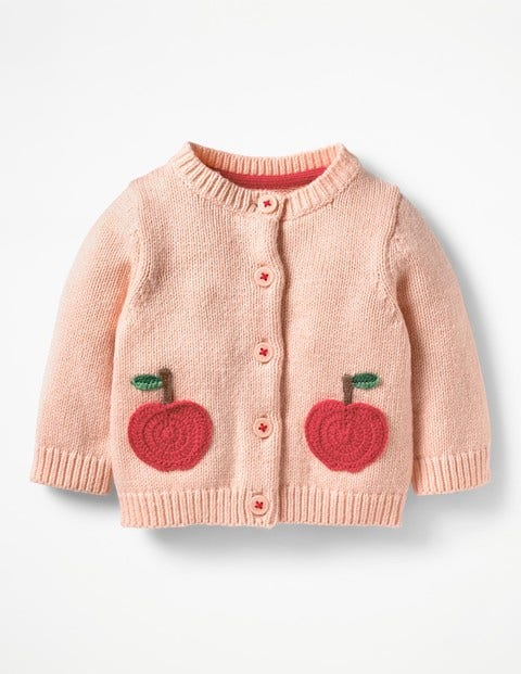 Characterful Crochet Cardigan - Provence Dusty Pink Apples