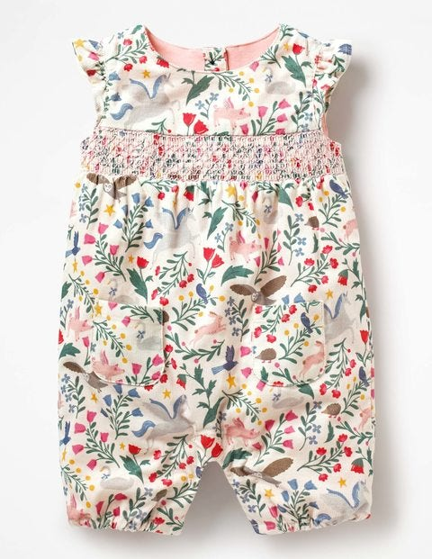 a7f31855c564 Hedgehog Friends Playsuit Y0378 Dungarees & Playsuits at Boden