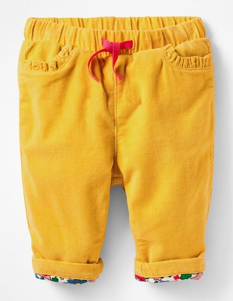 Appliqué Pocket Cord Trousers - Honeycomb Yellow Mouse
