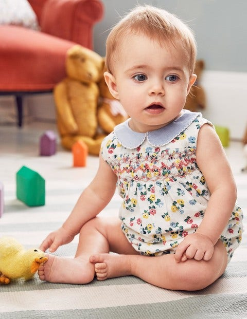 f3b6e68aa Nostalgic Smocked Romper Y0384 Rompers at Boden
