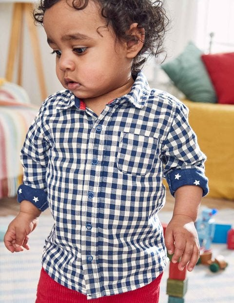 Woven Shirt - Beacon Blue Gingham
