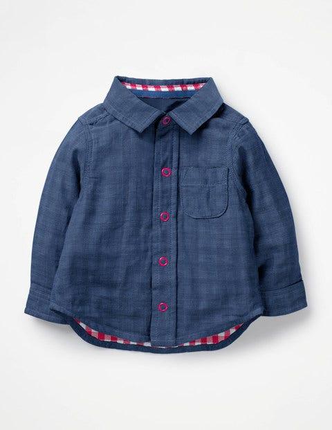 Woven Shirt - Chambray Blue