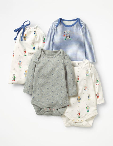 cadf57295 3 Pack Robot Bodysuits Y0406 Tops   T-shirts at Boden
