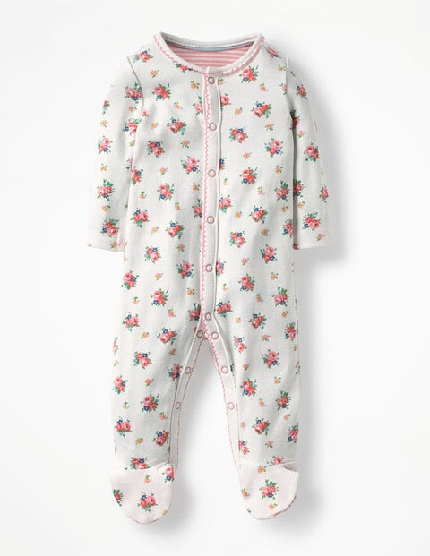 Pretty Printed Sleepsuit - Multi Vintage Spring