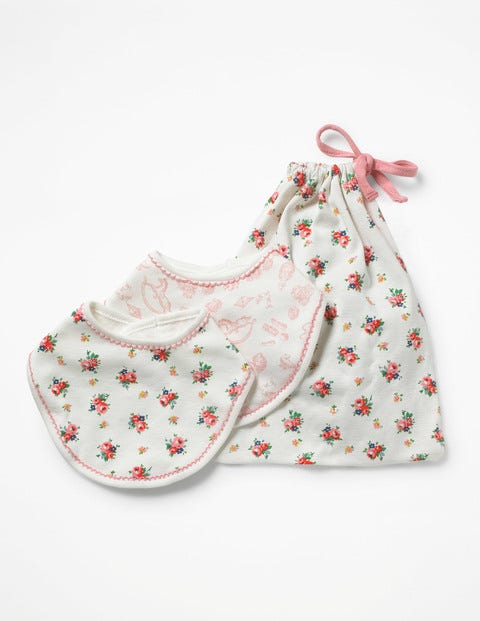 Image of 2 Pack Pretty Dribble Bibs Multi Baby Boden, Multicouloured