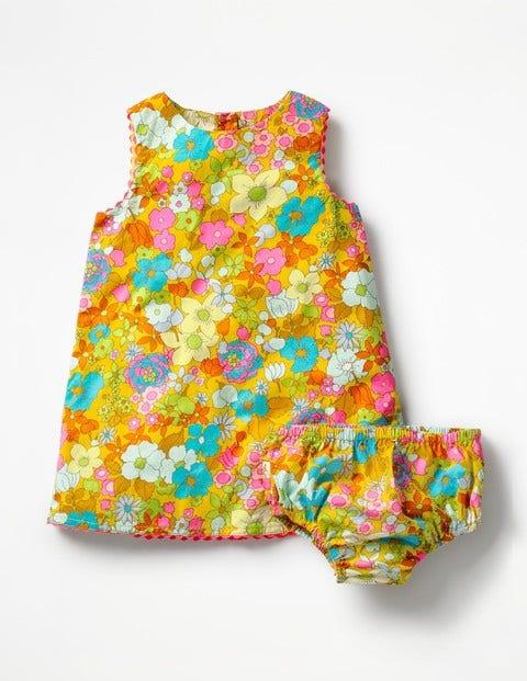 Robe Tissée Sunny Days - Motif floral rétro multi
