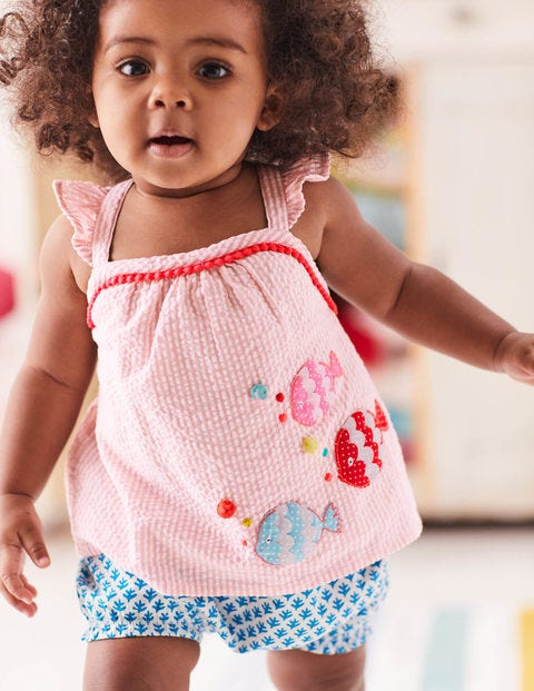 Strappy Woven Play Set - Almond Blossom Pink Coral Reef