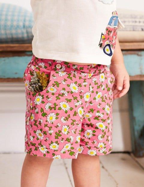 Bright Turn-Up Shorts - Vintage Daisy
