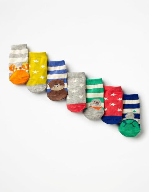 Image of 7 Pack Sock Box Multi Baby Boden, Multi