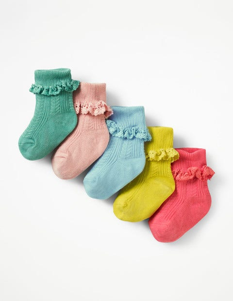 Image of 5 Pack Pretty Sock Box Multi Baby Boden, Multicouloured