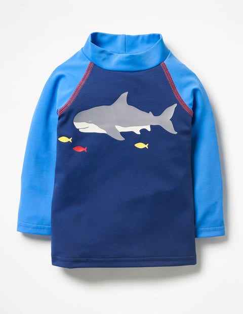 Sea Creature Rash Guard - Deep Sea Blue Shark