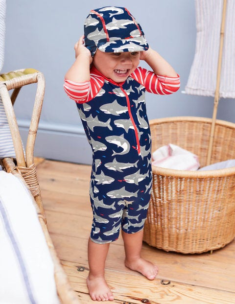 Animal Surf Suit - Crayon Red Baby Sharks
