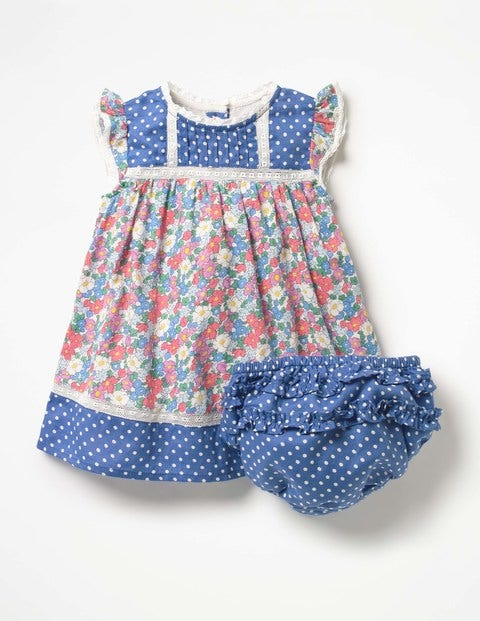 1930s Childrens Fashion: Girls, Boys, Toddler, Baby Costumes Hotchpotch Woven Dress Multi Baby Boden Multi £15.60 AT vintagedancer.com