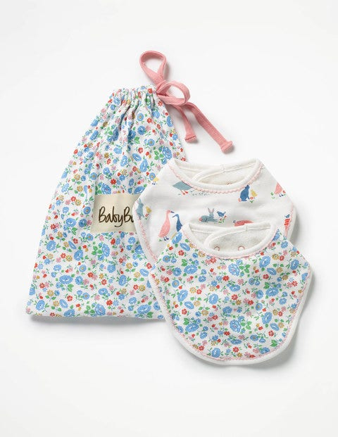 Image of 2 Pack Dribble Bibs Multi Baby Boden, Multi