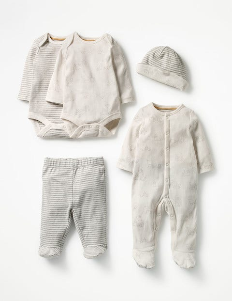 Image of Baby Gifting Set Ivory Baby Boden, Grey