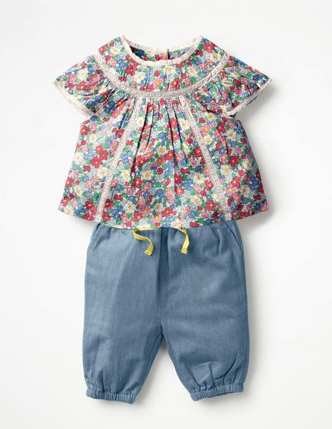 Pretty Woven Play Set - Multi Vintage Floral