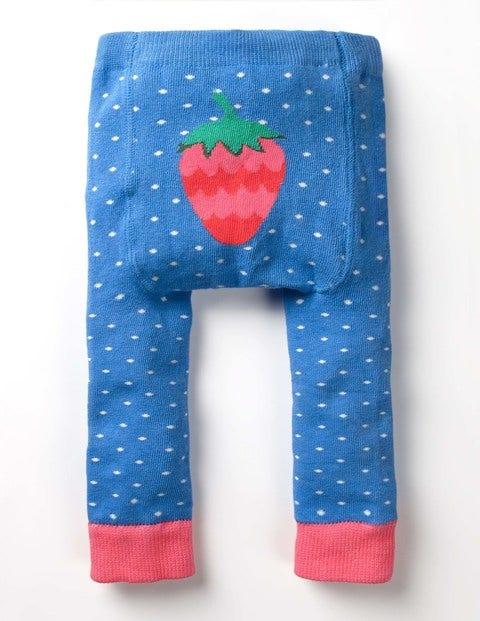Knitted Leggings - Lake Blue Pin Spot