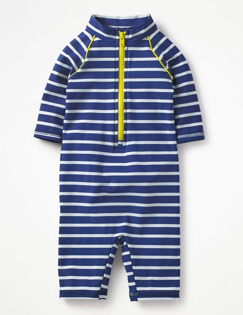 Animal Surf Suit - Deep Sea/Ivory Stripe