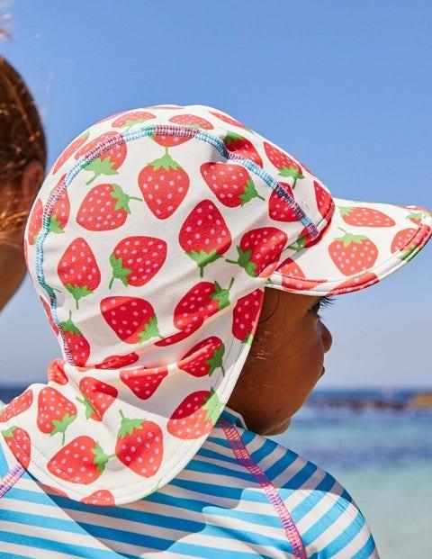 Pretty Swim Hat - Ivory Sweet Strawberries