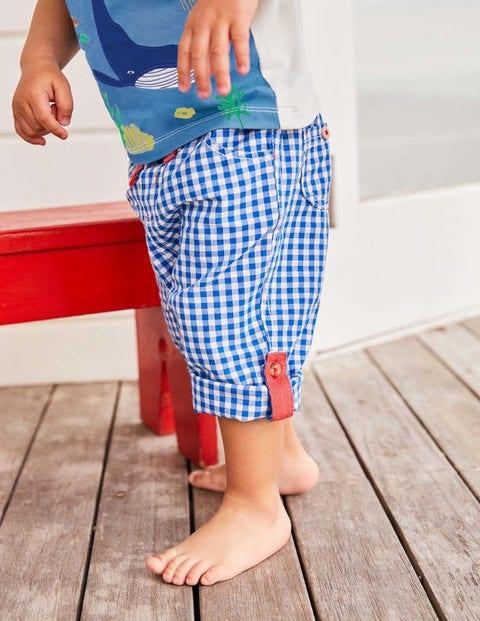 Roll-Up Pants - Skipper Blue Gingham