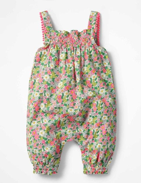 Pretty Summer Playsuit - Knockout Pink Vintage Floral