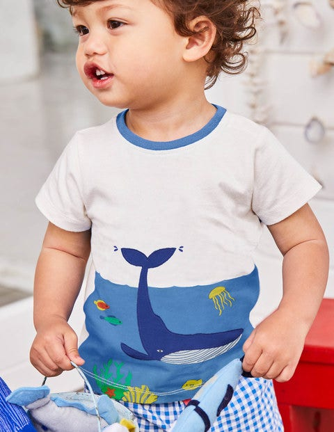 Animal Explorer T-Shirt - Ivory Underwater Scene