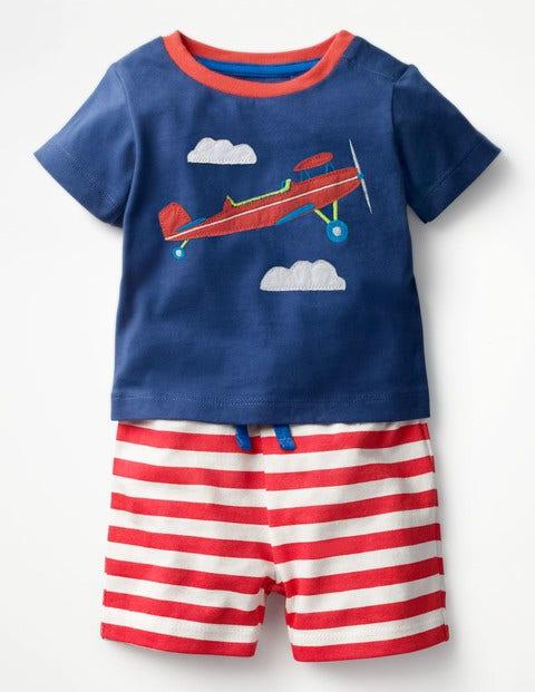 Boden Hübsches Jersey-Spielset Blue Baby Boden blau,bunt,mehrfarbig |