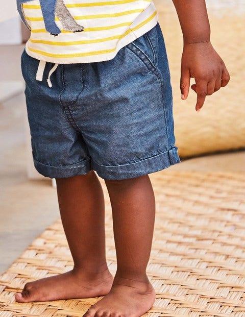 Woven Explorer Shorts - Chambray