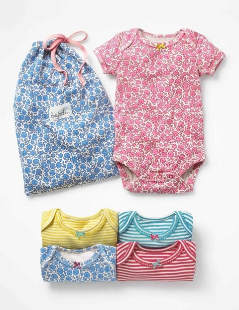 Image of 5 Pack Floral Bodies Multi Baby Boden, Multi