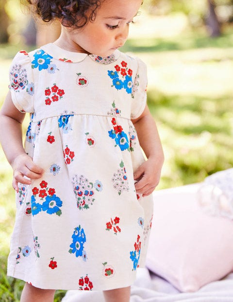 Printed Occasion Dress - Multi Baby Vintage Posey