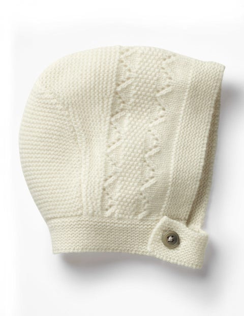 Image of Cashmere Bonnet Ivory Baby Boden, Ivory