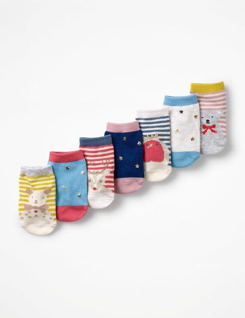 Box Mit Socken Im 7Er-Pack - Festliche Tiermotive