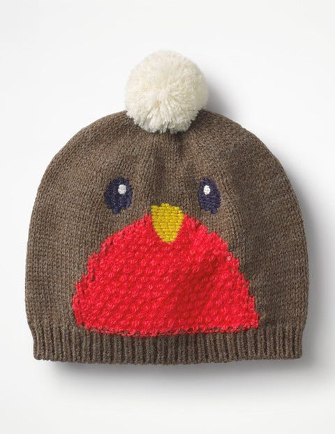 Festive Hat - Brown Marl