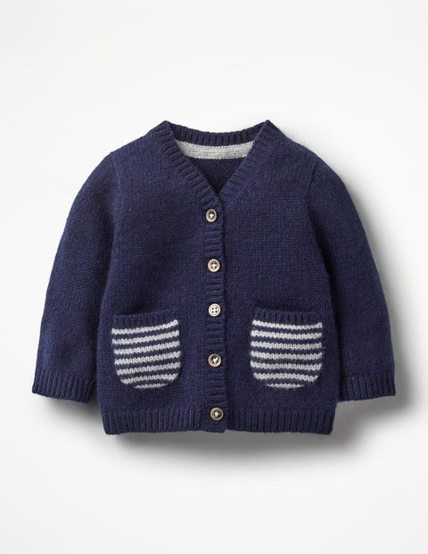 Pocket Cashmere Cardigan - Beacon Blue