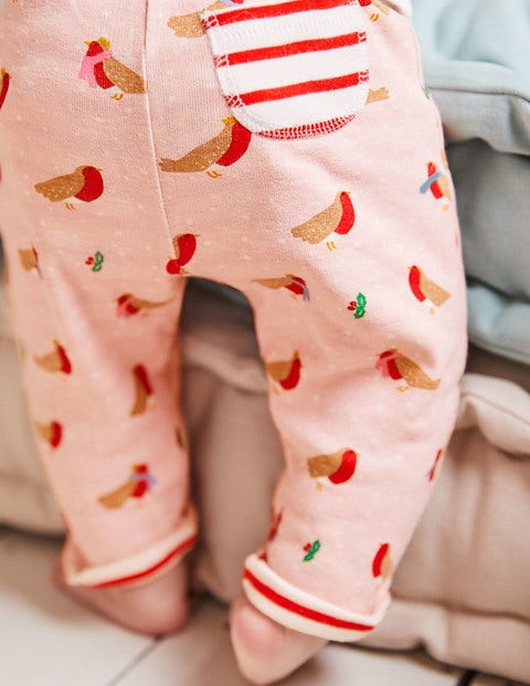 Supersoft Reversible Trousers - Provence Dusty Pink Robins