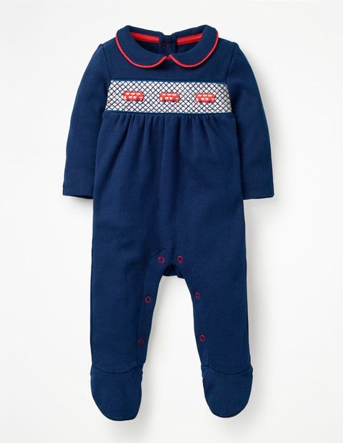 London Sleepsuit - Beacon Blue/Buses