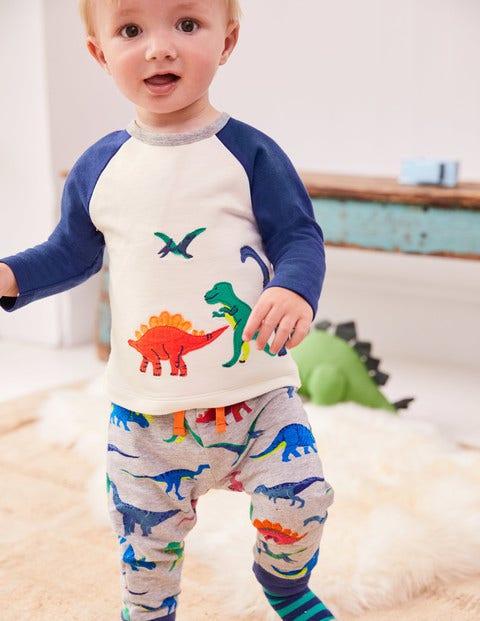 Fun Appliqué Play Set - Ecru Dinosaurs