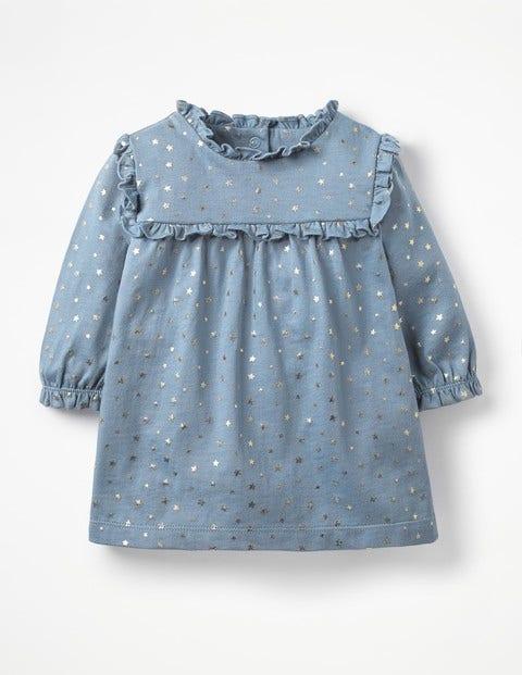 Printed Jersey Dress - Boathouse Blue Twinkle Star