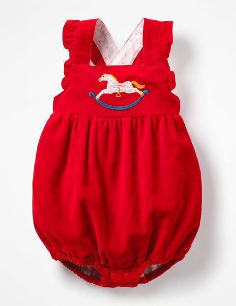 Frilly Romper - Polish Red Rocking Horse