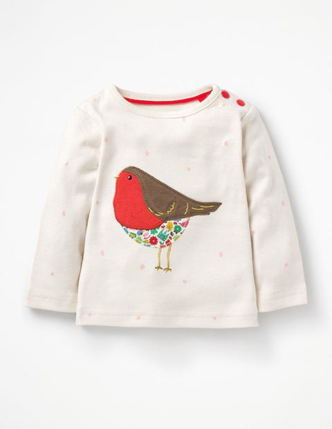 3297b4a852c2 Snowy Friends Appliqué T-shirt Y0437 Long Sleeved Tops at Boden