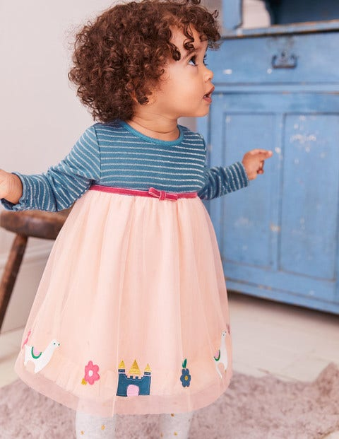 Magical Tulle Dress - Provence Dusty Pink Llamas